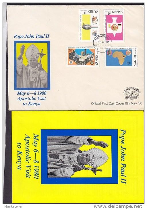 Kenya Ersttags Brief FDC Cover 1980 Apostolic Visit Pope Pabst John Paul II. Complete Set - Kenia (1963-...)