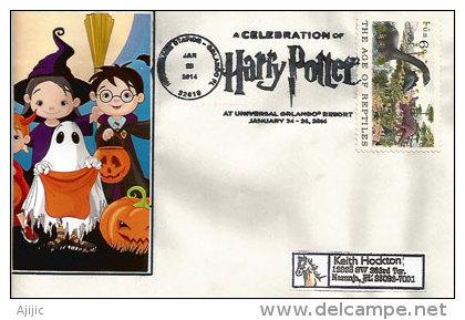 USA:Harry Potter, Lettre D´Universal Studios Resort. Florida., Belle Lettre - Acteurs