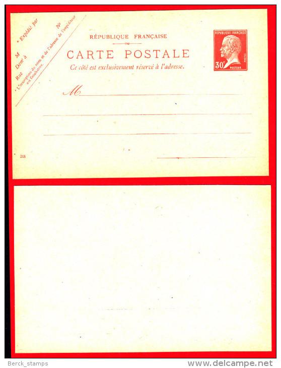 FRANCE - ENTIER POSTAL - 173CP1 - Type PASTEUR - 30c Rouge. - Louis Pasteur