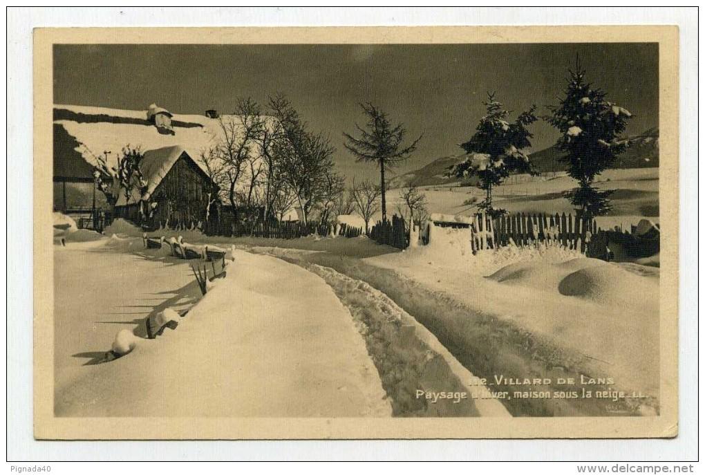 CP , 38 , VILLARD-de-LANS , Paysage D'Hiver - Villard-de-Lans