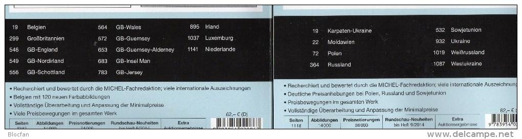 MICHEL Ost/West-Europa Katalog 2015 Neu 124€ Band 6+7 : B Eire GB Jersey Man Lux NL PL Rus USSR Ukraine Moldavia Belorus - Audio Books