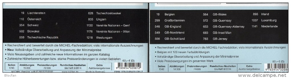 MICHEL MittelWest-Europa Katalog 2015 Neu 124€ Band 1+6 A CH UN Genf Wien Slowakei CZ CSR HU B Eire GB Jersey Man Lux NL - Sonstige