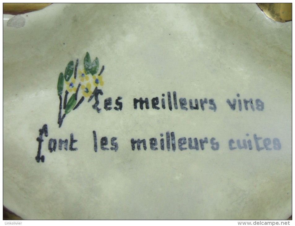 CENDRIER En Céramique VALLAURIS Avec Maxime Humoristique - Vallauris (FRA)