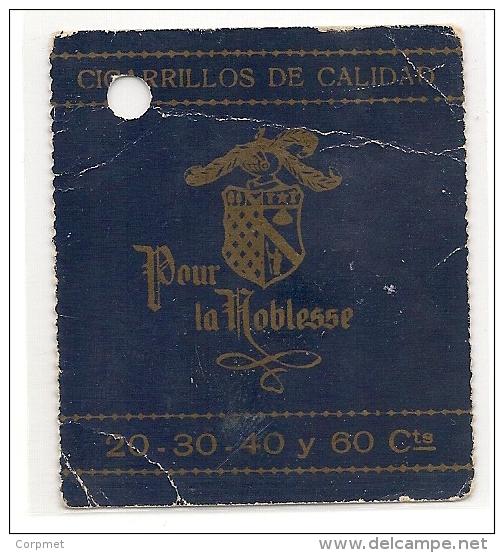 POUR LA NOBLESSE CIGARETTES - Propagande C/1930´c - Billet Garde-robe Plus Célèbre BUENOS AIRES TABARIS CABARET - Xrare! - Tabac (objets Liés)