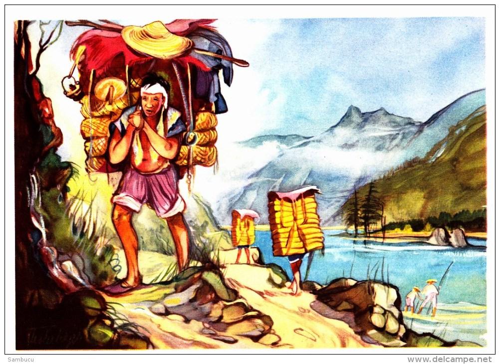 SANELLA Sammelwerk Bild Nr. 72 Teeträger In Tibet (China - Tibet - Japan) - Vignettes Autocollantes