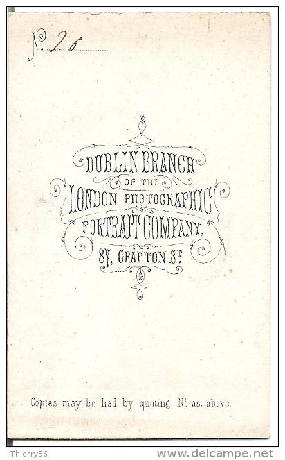 Photo CDV Avant 1900 - Rare London Photographic Portrait Company 87 Grafton Street Dublin - Alte (vor 1900)