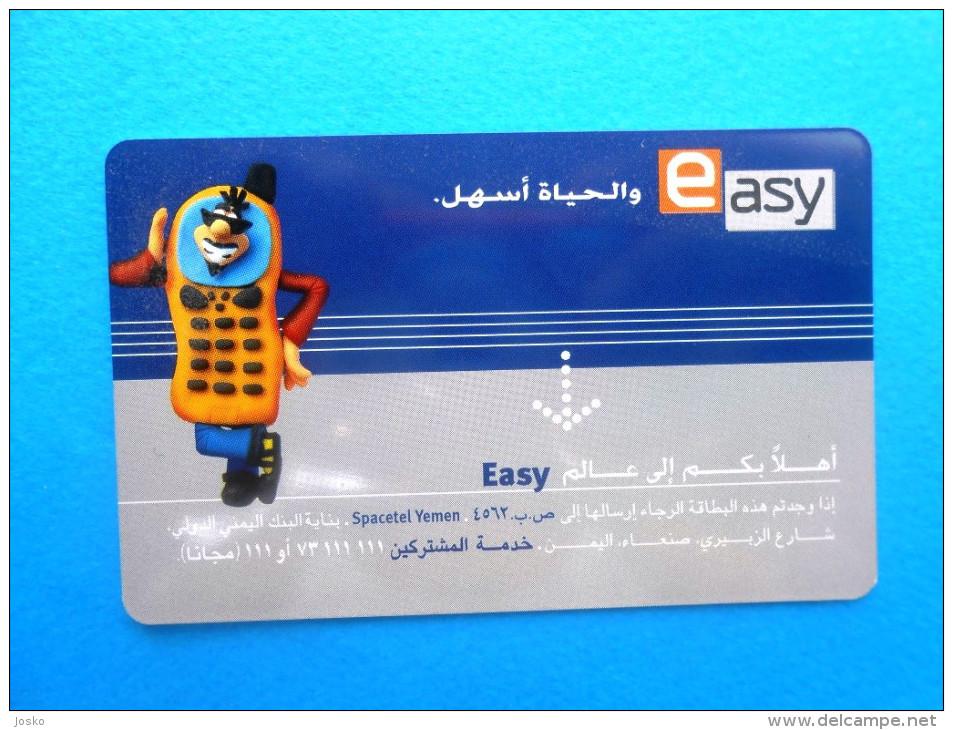 EASY - Makes Life Simple ( Yemen Card ) - Télécartes