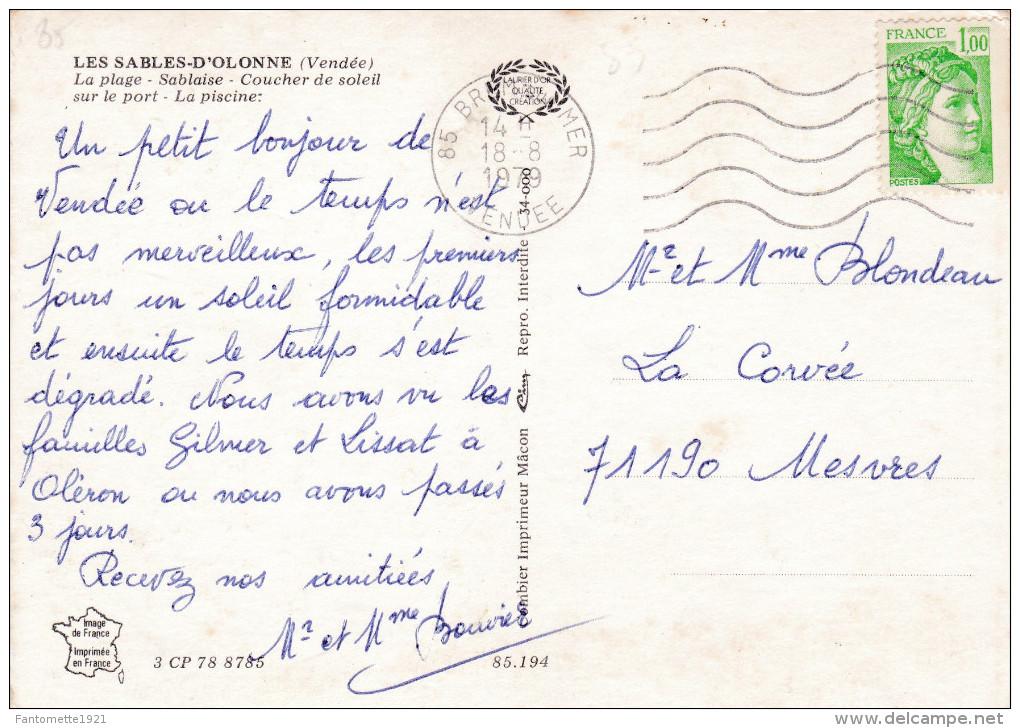 LES SABLES D'OLONNE MULTIVUES (dil90) - Sables D'Olonne
