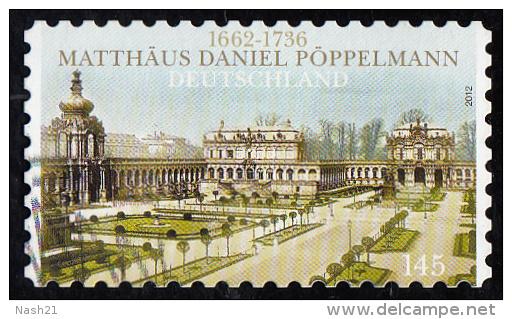 Timbre   D'  ALLEMAGNE 2012  ' '  Yvert  2741  ' '   145 C.. '' Zwinger '' , Palais Des Rois De Saxe, à Dresde - BRD