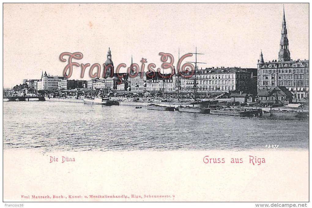 Lettonie Letonia - Gruss Aus Riga - Die Düna - Lettonie
