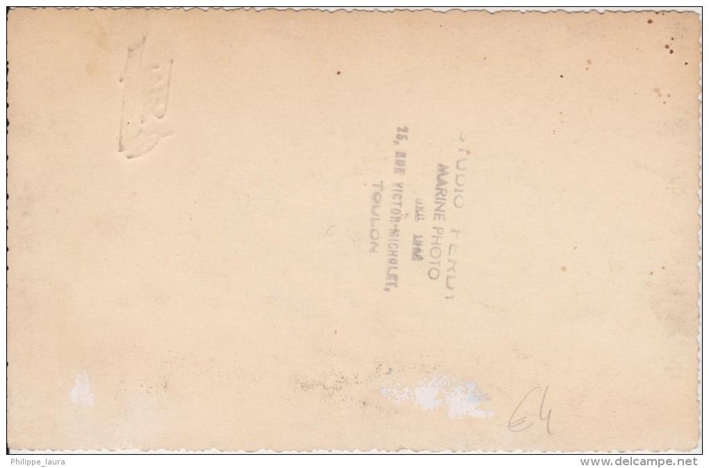 """Photo Originale """"Studio FERDY"""" TOULON PORTRAIT  Marine Nationale - Guerra, Militares"""