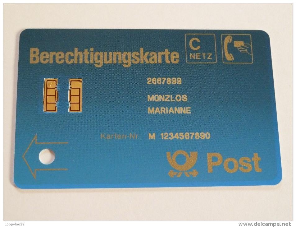 GERMANY - MINT - Early Demo - Berechtigungskarte - 9360064 - RARE - T-Series : Tests