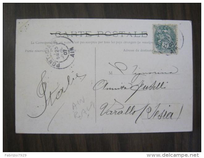 CF2 FRANCIA FRANCE 1907 VARAMBON AIN VIUE GENERALE VEDUTA COLLINA CHIESA CASTELLO X VARALLO SESIA - Autres Communes