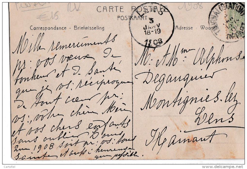 ST-MARCOULT-SOUS SILLY-CHATEAU DE MME DE FORMANOIR-VUE DU PARC-EDIT.MICHEL-MONART-CARTE ENVOYEE-1908-RARE-VOYEZ 2 SCANS! - Silly