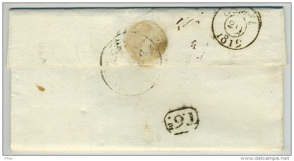 LàC 1819 Paris Local Ministère De La Guerre - Liquidation De L'Arriéré Pour Commissaire Des Guerres Adj. Voir Marque. - 1801-1848: Precursors XIX
