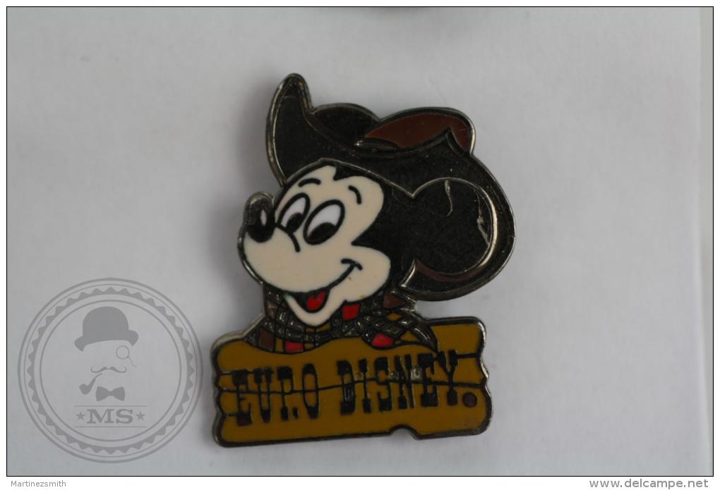 Euro Disney, Mickey Mouse With Cowboy Hat - Pin Badge #PLS - Disney