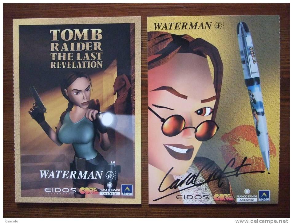 Tom Raider The Last Revelation Carte Postale (double Card) - Reclame
