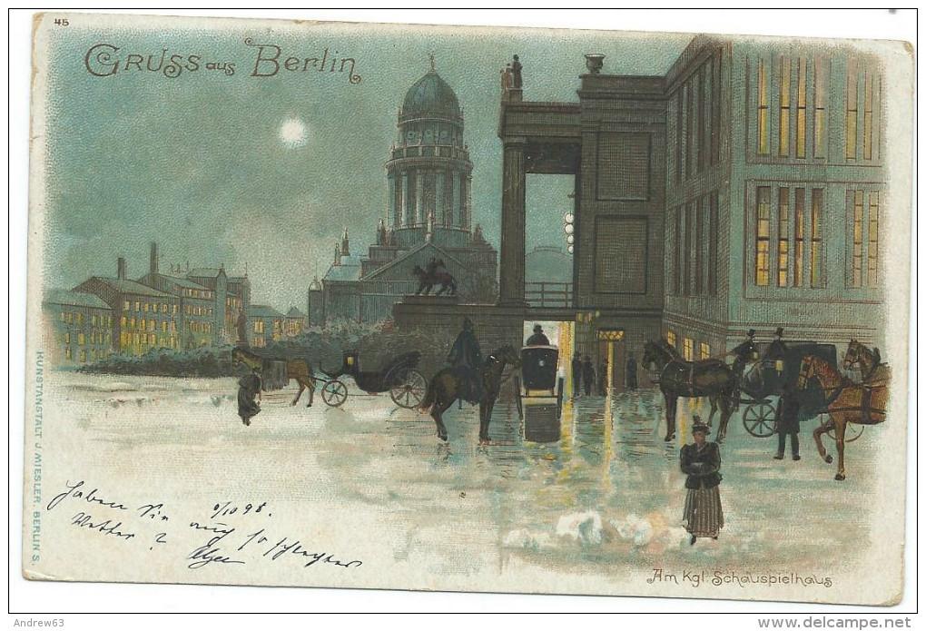 CARTOLINA – 1898 – Postkarte – Carte Postale – Gruss Aus Berlin - Viaggiata Da Berlin Per Gen... - Mitte