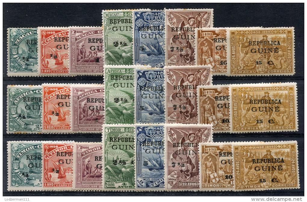 PORTUG. GUINEA Vasco De Gama Compl. Sets - Yv.113-136 (Mi.104-127, Sc.116-139) MH - Portugiesisch-Guinea