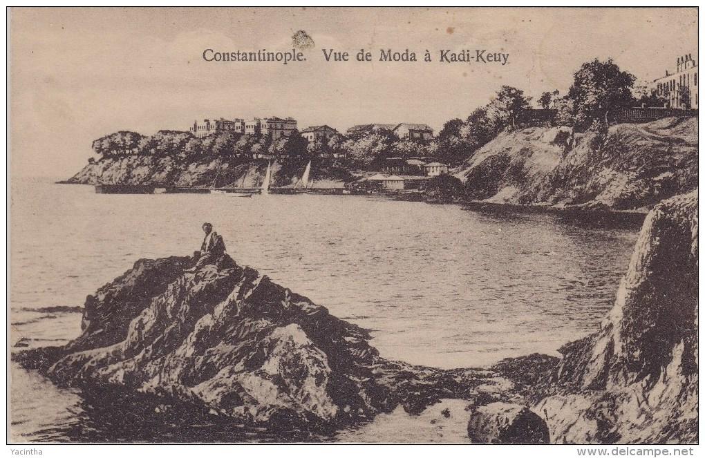 "Turkey Turquie Türkiye Postcard Constantinople ""Vue De Moda à Kadi-Keuy"" - Turquia"