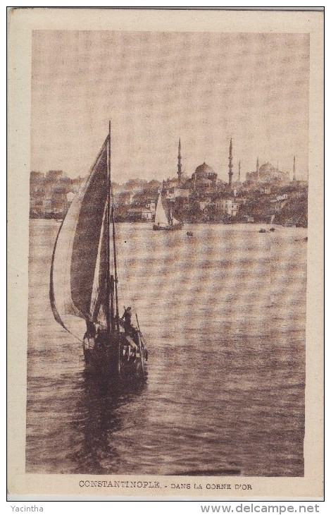 """Turkey Turquie Türkiye Postcard Constantinople """"Dans La Corne D`or"""" - Türkei"""