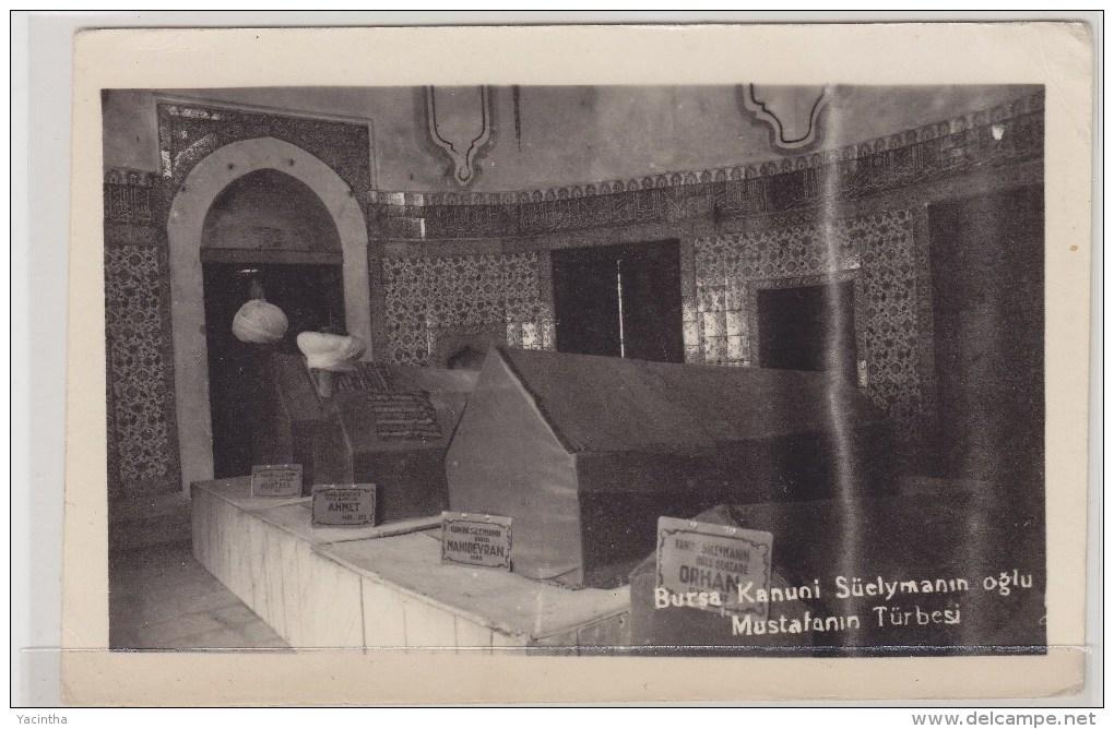 """Turkey Turquie Türkiye Postcard """"Bursa Kanuni Süelymanin Oglu Mustafanin Türbesi"""" - Türkei"""