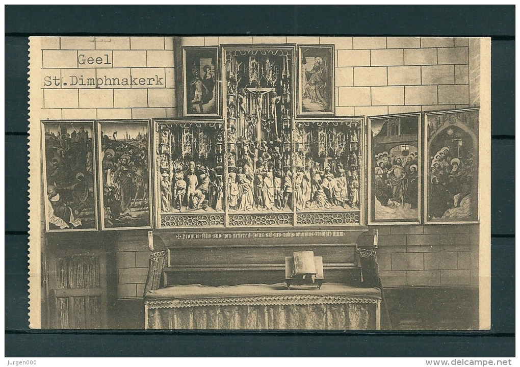 GHEEL: St Dimphnakerk, Niet Gelopen Postkaart (Uitg Mels) (GA19150) - Geel