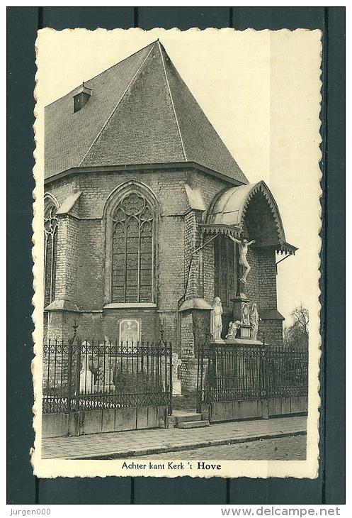 HOUTVENNE: Achter Kant Kerk, Niet Gelopen Postkaart (Uitg Sleegers) (GA19434) - Hove