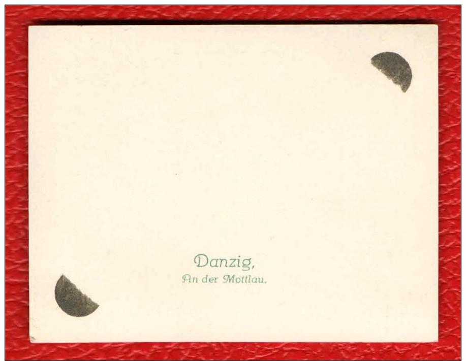 DANZIG - AN DER MOTTLAU - ANTICA MINI FOTOGRAFIA ORIGINALE - OLD ORIGINAL MINI PHOTO - READ DESCRIPTION - Danzig