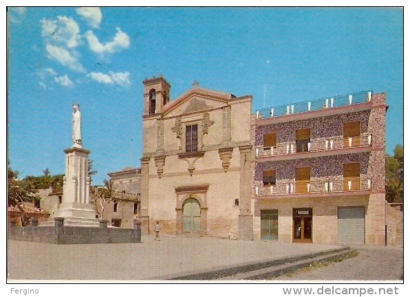 6715/A/FG/14 - MAZZARINO (CALTANISSETTA) - Piazza S. Domenico, Madonna Di Fatima - Caltanissetta