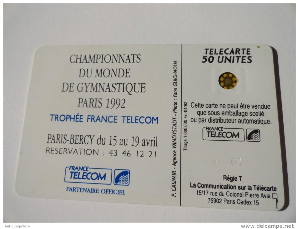 VERY RARE : VISUEL MANQUANT : CHAMPIONNATS DU MONDE DE GYMNASTIQUE PARIS 1992 - Frankrijk