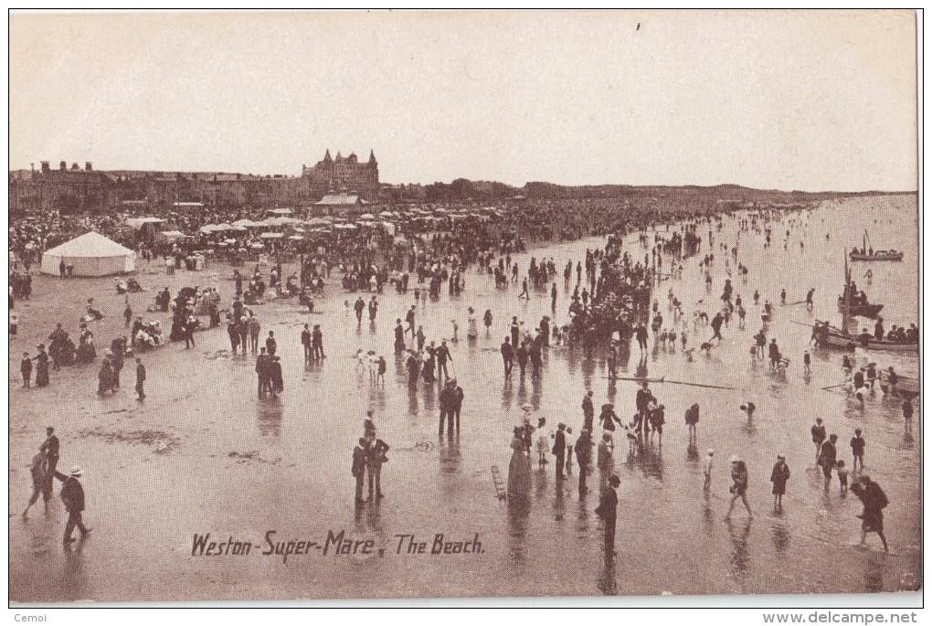 CPA Animée - WESTON SUPER MARE - The Beach - Weston-Super-Mare