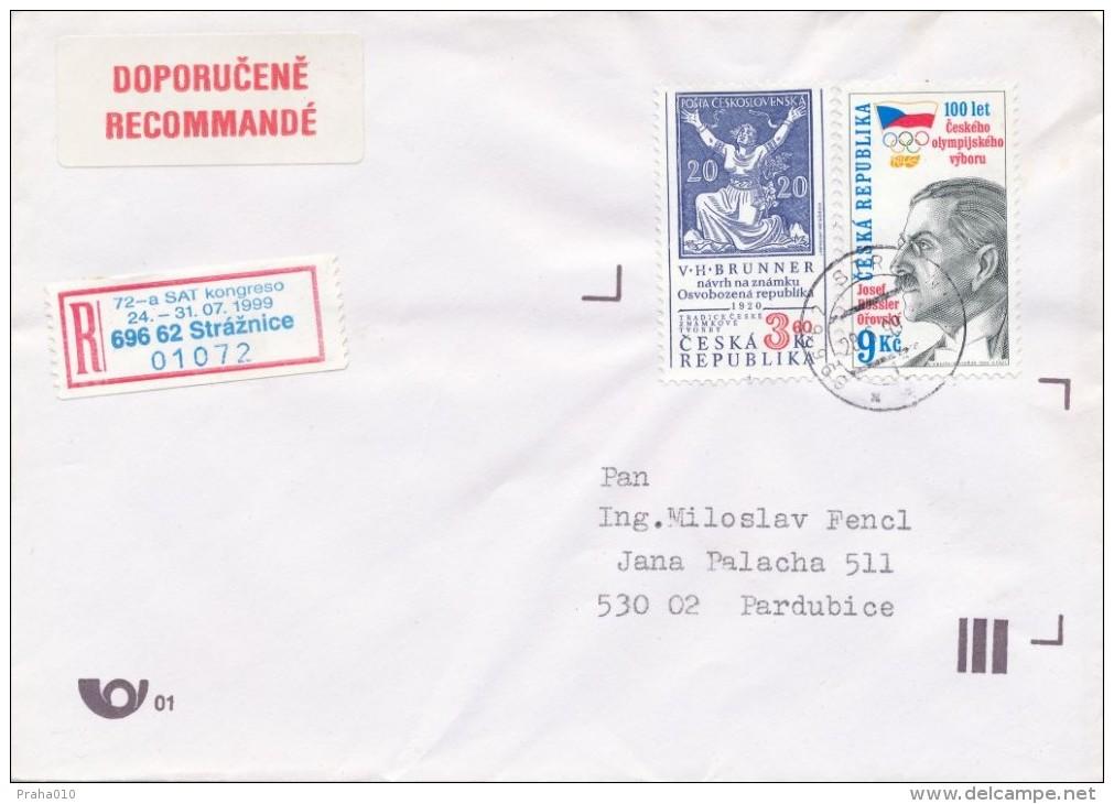 Czech Rep. / Occasional R- Label (1999/06) 696 62 Straznice: 72 Congress Of Esperanto (I7833) - Esperanto