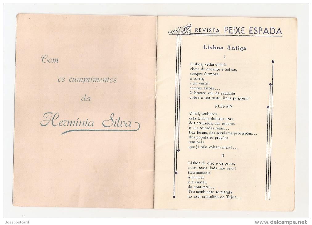Hermínia Silva - Brochura C/ Letras De Fados: Opereta Nazaré. Lisboa Antiga. Fado. Fadista. Artista. Cinema. Teatro. - Boeken, Tijdschriften, Stripverhalen