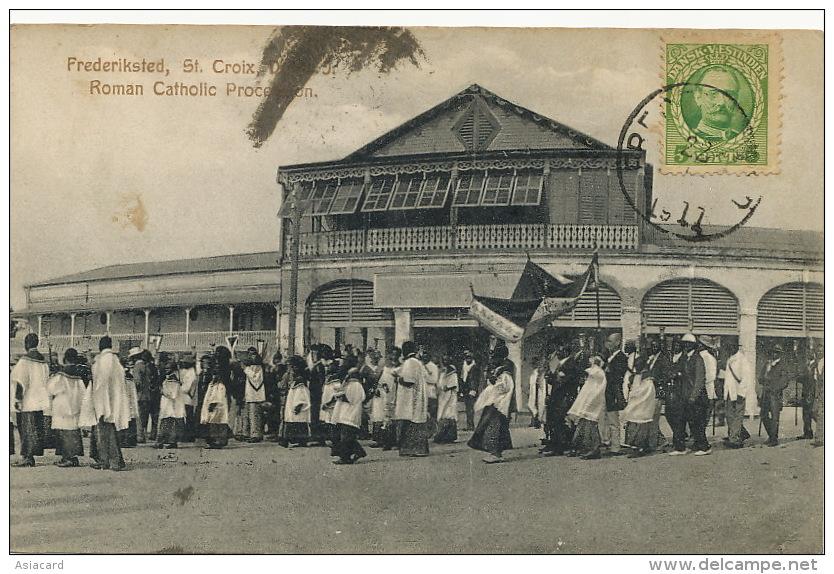 St Croix Danish West Indies Roman Catholic Procession Used To Bucarest Romania Frederiksted - Vierges (Iles), Britann.