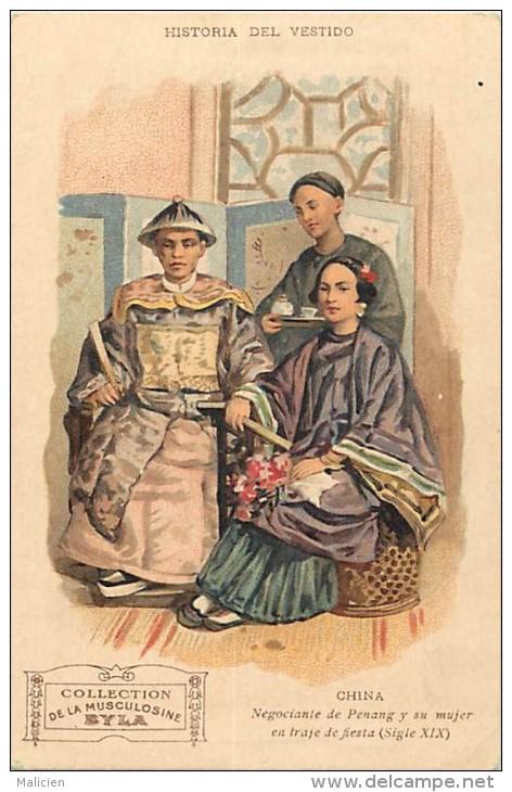 Pays Div-asie -chine - China  -ref D198- Historia Del Vestido - China -negociante De Penang Y Su Major  - - Chine