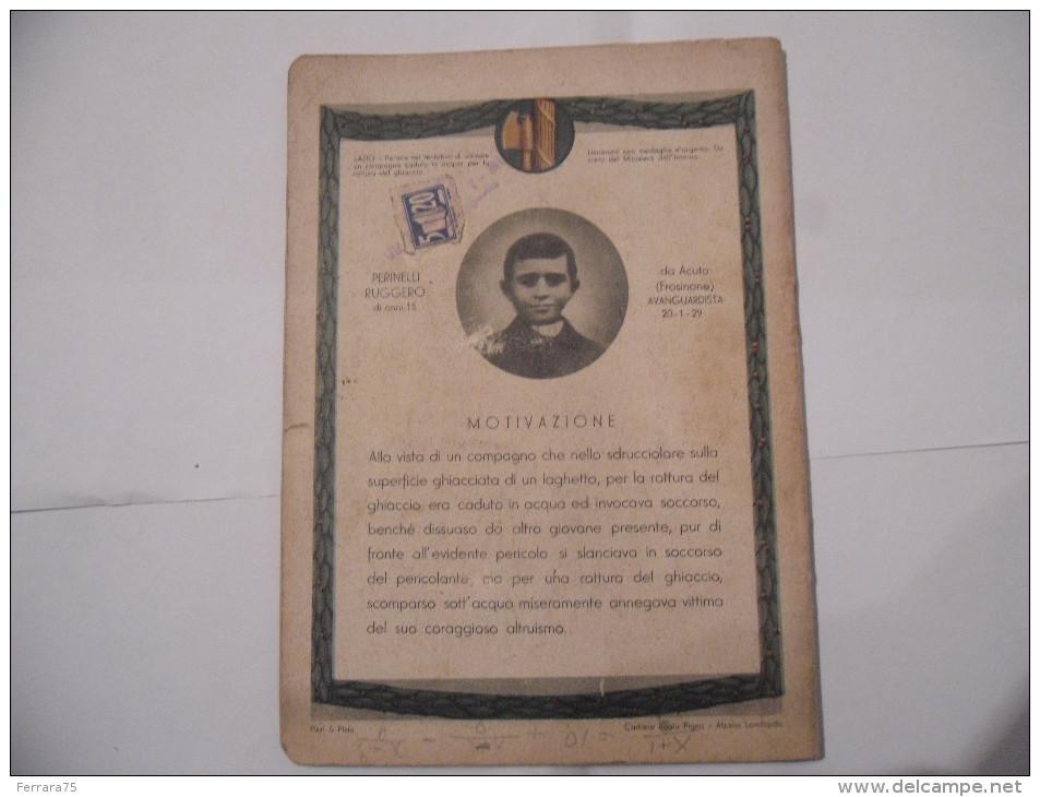 QUADERNO FASCISMO GIOVINEZZE EROICHE BOCCASILE PERINELLI RUGGERO  RARO MARCA DA BOLLO - Documenti