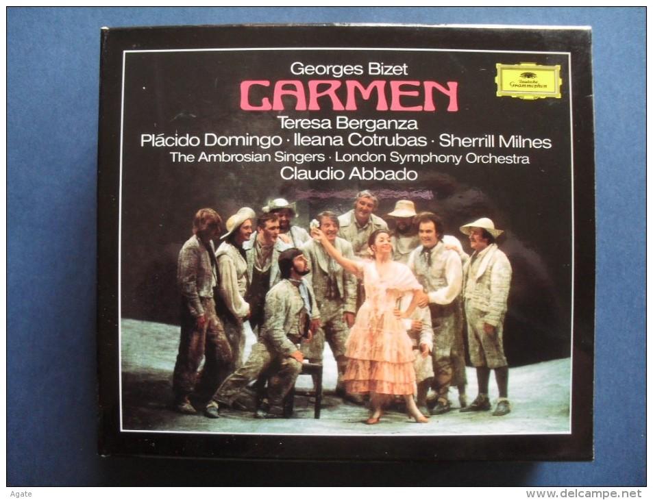 CARMEN  - Teresa Berganza - Placido Domingo - London Symphony Orchestra - Claudio Abbado - Coffret De 3 CD + Livret - Oper & Operette