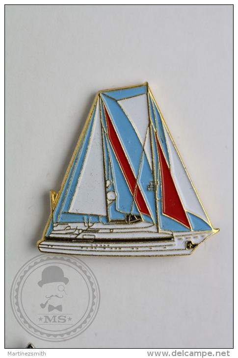 Sailing Boat - Pin Badge #PLS - Barcos