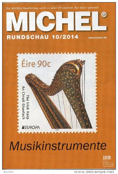 Briefmarken Rundschau MICHEL 10/2014 Neu 6€ New Stamp Of The World Catalogue And Magacine Of Germany ISBN4 194371 105009 - Deutsch