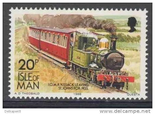 "Isle Of Man 1988 Mi 381 YT 381 ** I.O.M.R. ""Kissack"" Leaving St. John´s For Peel / Personenzug + Lok - Treinen"
