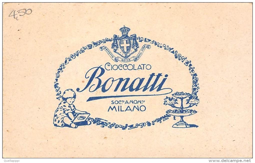 """0296 CIOCCOLATO BONATTI SOC.TA' ANON.MA MILANO'"""" FIGURINA ORIGINALE - Cioccolato"""