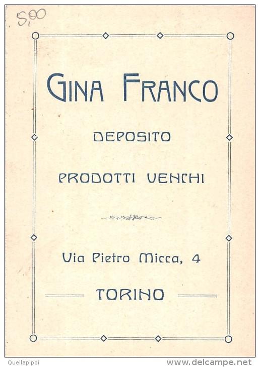 """0297 """"GINA FRANCO - DEPOSITO PRODOTTI VENCHI - TORINO'"""" FIGURINA ORIGINALE - Cioccolato"""