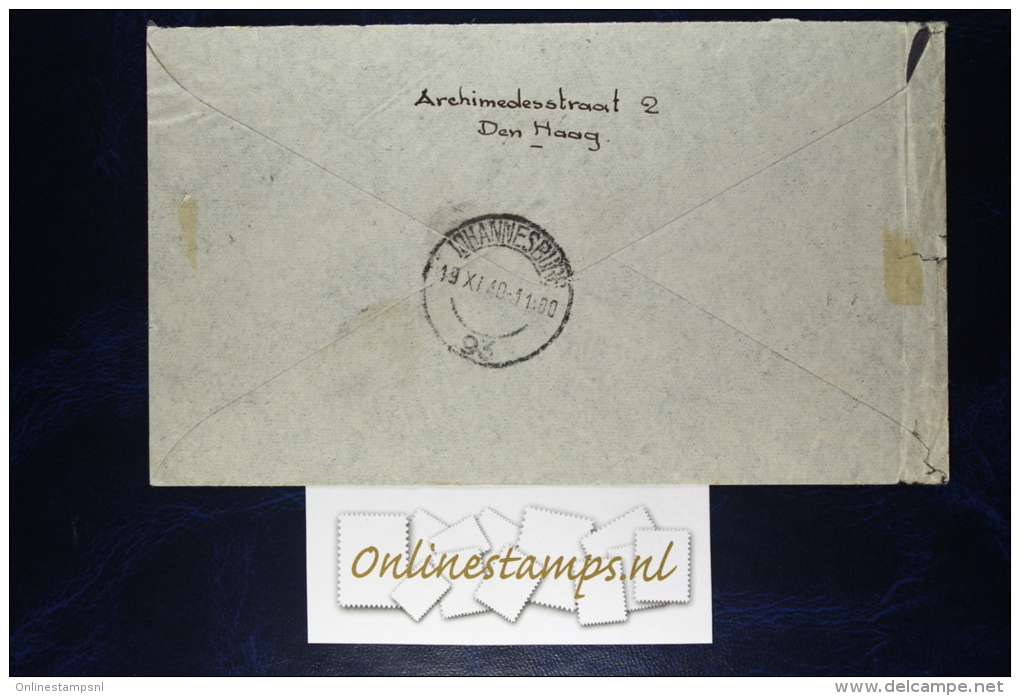 Netherlands: Cover Amsterdam -> Napels To Johannesburg, With R52 Stamp - Periode 1891-1948 (Wilhelmina)