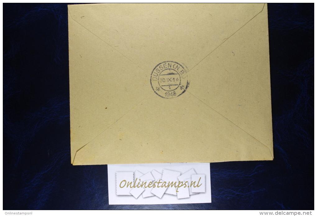 Netherlands, Cover NVPH 332 + 335 - 337, Imperforated , Registered Dussen (RR) - Periode 1891-1948 (Wilhelmina)