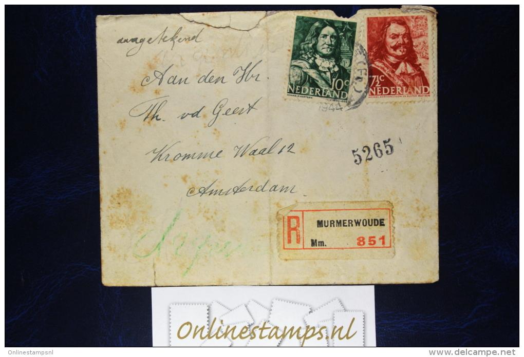 Netherlands, Cover NVPH  Registered Murmerwoude / Moarewald (Friesland RR)  Fragile - Periode 1891-1948 (Wilhelmina)