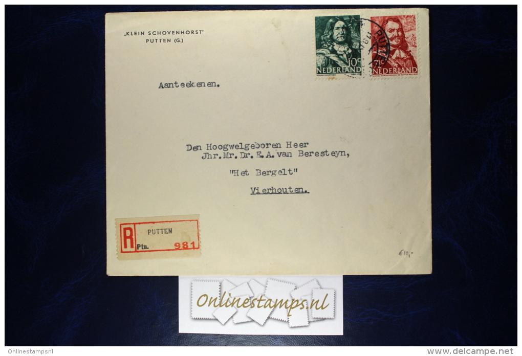 Netherlands, Cover Registered Klein Schovenhorst Putten To Vierhouten - Periode 1891-1948 (Wilhelmina)