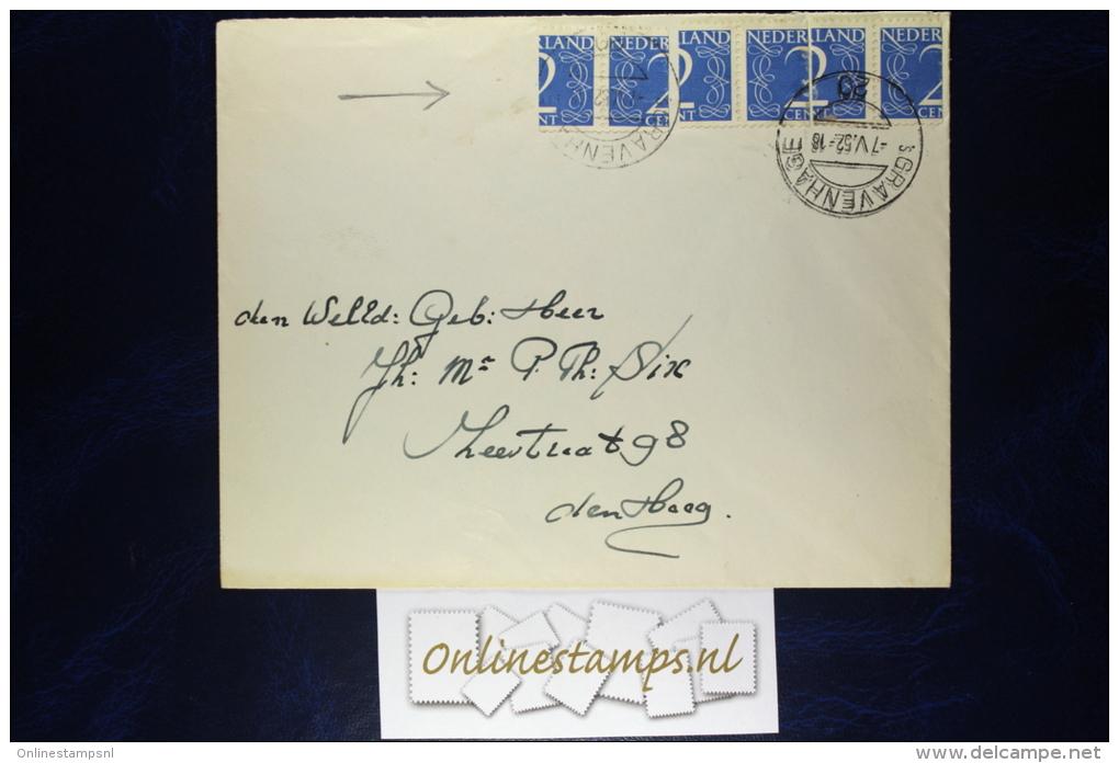 Netherlands, Envelop 1952 6 X Gehalveerde Zegel 2 Cent, 6 X Halved 2 Cent Stamps - Periodo 1949 – 1980 (Juliana)