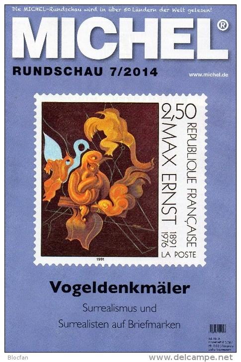 Briefmarken Rundschau MICHEL 7/2014 Neu 6€ New Stamps Of The World Catalogue And Magacine Of Germany ISBN4 194371 105009 - Deutsch