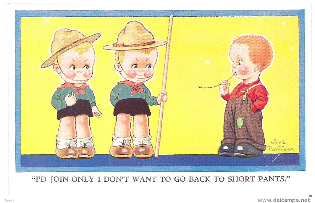 """""""I'd Join Only I Don't Want To Go Back To Short Pants.""""  Vera Paterson - Humour"""